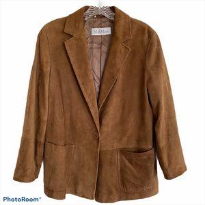 MaxMara | Suede Blazer Jacket Coat